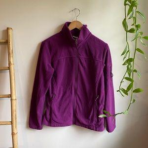Purple Columbia Zip up Fleece LG